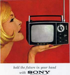 vintage Sony advertisement from the 60s